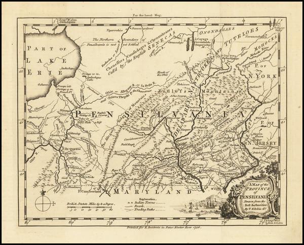 0-Mid-Atlantic and Pennsylvania Map By Thomas Kitchin