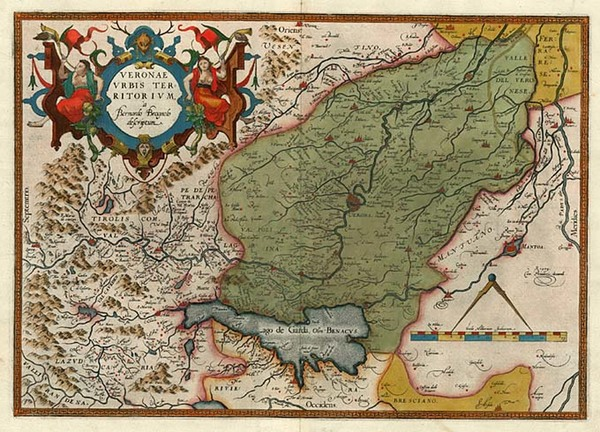47-Europe and Italy Map By Abraham Ortelius