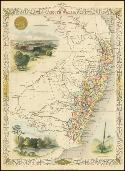 11-Australia Map By John Tallis