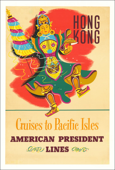 38-Hong Kong and Travel Posters Map By American President Lines