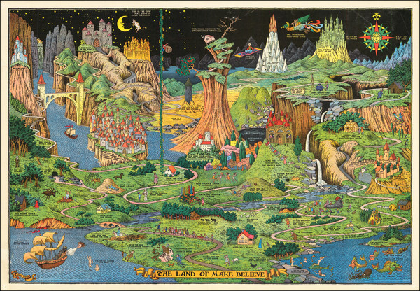 90-Pictorial Maps and Curiosities Map By Jaro Hess