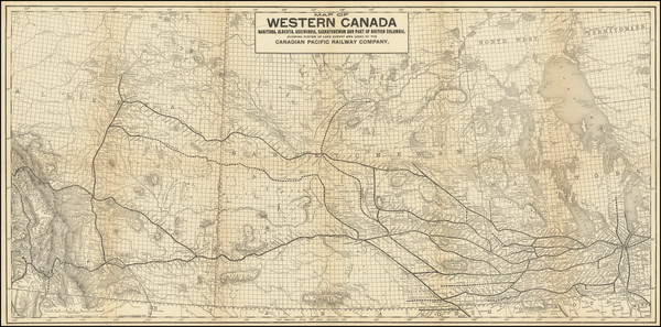 88-Western Canada and British Columbia Map By Poole Brothers