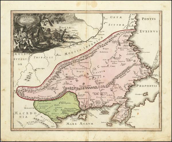 67-Bulgaria, Turkey and Greece Map By Johann Christoph Weigel