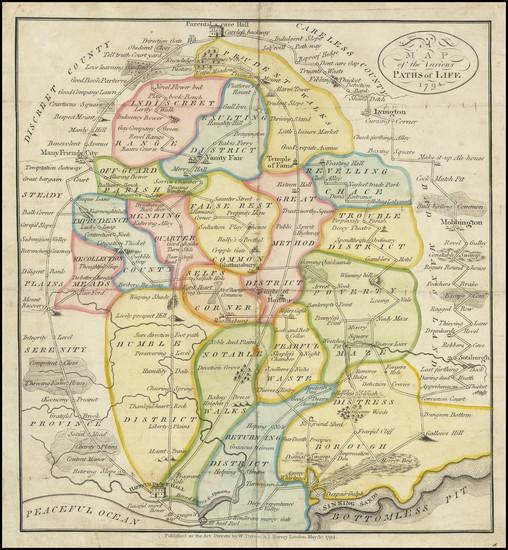 58-Pictorial Maps and Curiosities Map By William Darton  &  Joseph Harvey