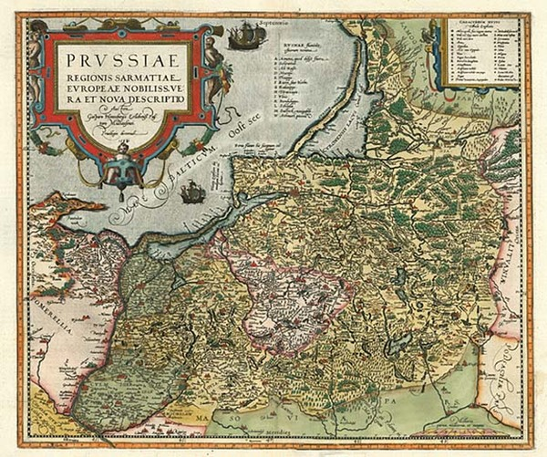 73-Europe, Germany, Poland and Baltic Countries Map By Abraham Ortelius