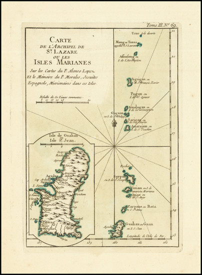 93-Other Pacific Islands Map By Jacques Nicolas Bellin