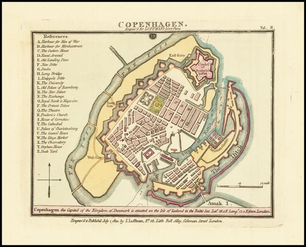 74-Denmark Map By John Luffman