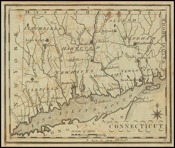12-Connecticut Map By Joseph Scott