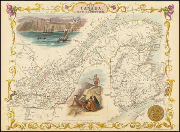 37-Canada and Eastern Canada Map By John Tallis