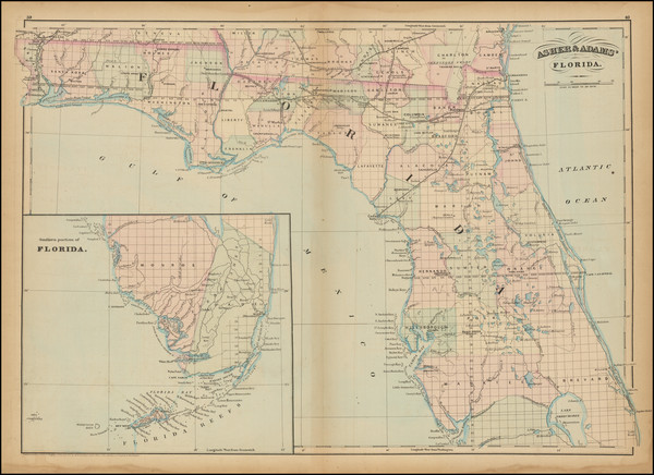 71-Florida Map By Asher  &  Adams