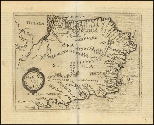 49-Brazil Map By Johannes Matalius Metellus