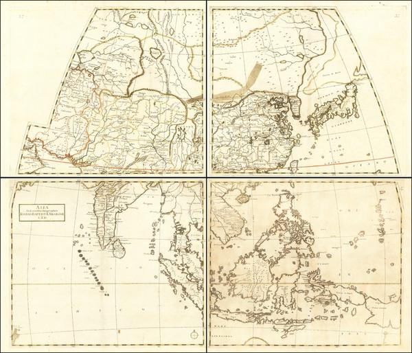 8-Asia, China, Southeast Asia, Australia & Oceania and Australia Map By Giovanni Battista Nic