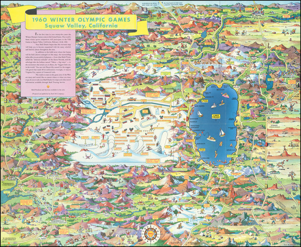 82-Pictorial Maps and California Map By Don Bloodgood