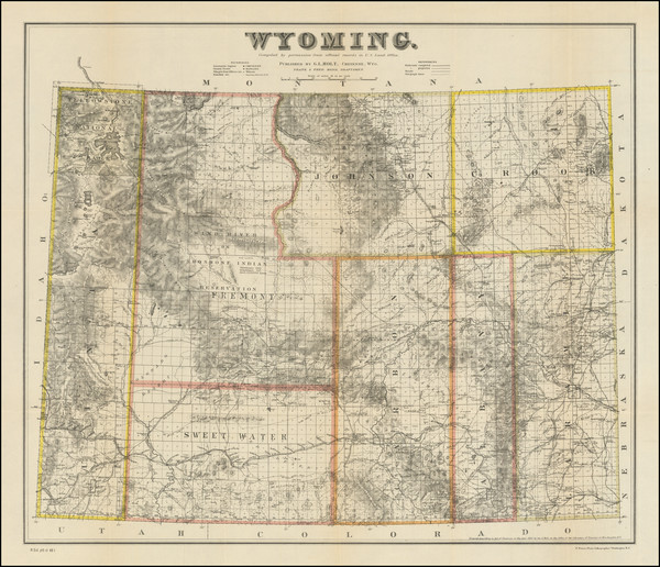 15-Wyoming Map By G.L. Holt