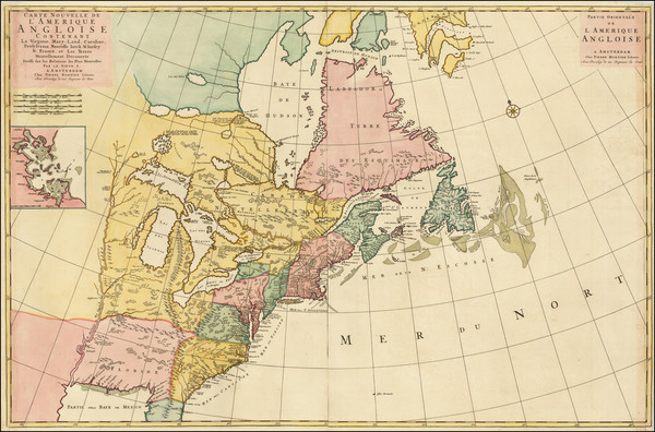 53-United States, North America and Canada Map By Pierre Mortier