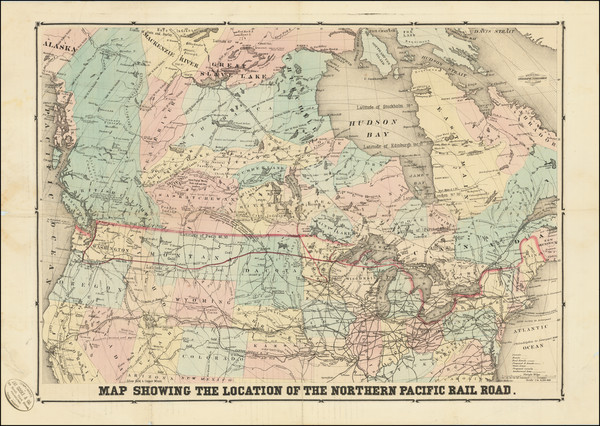 51-United States, Midwest, Plains, Rocky Mountains and Canada Map By M. Traubel