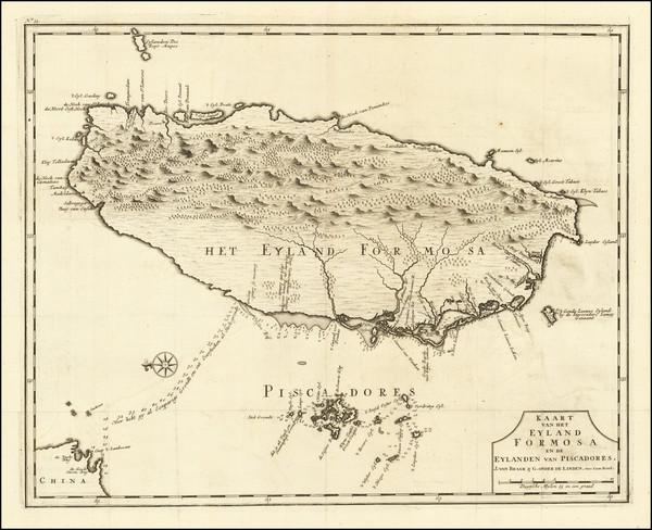 84-China Map By Francois Valentijn
