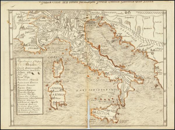 28-Italy Map By Sebastian Munster