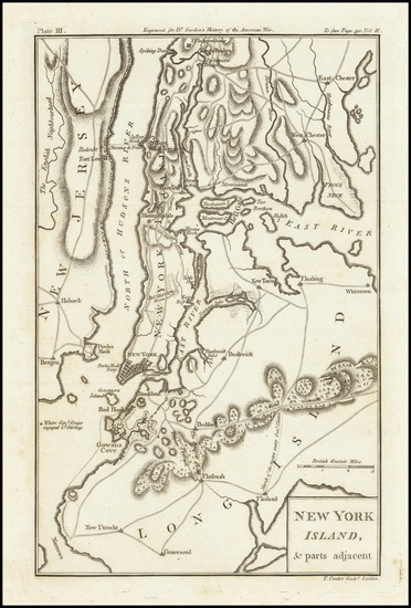 10-New York City and American Revolution Map By Thomas Conder