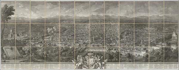 37-Rome Map By Giuseppe Vasi