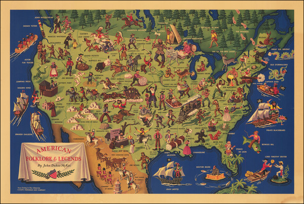 2-United States and Pictorial Maps Map By John Dukes McKee