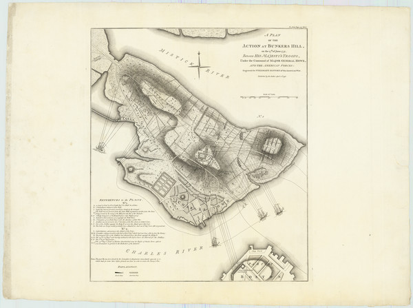 51-New England, Massachusetts and Boston Map By Charles Stedman / William Faden