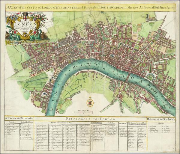 32-London Map By John Senex