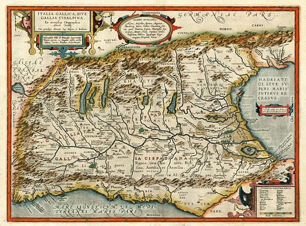 76-Europe, Switzerland and Italy Map By Abraham Ortelius