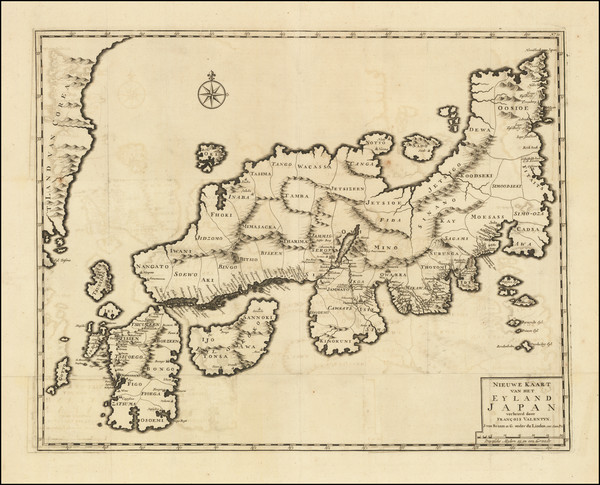 60-Japan and Korea Map By Francois Valentijn