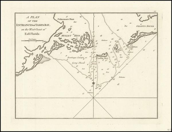 51-Florida Map By Sayer & Bennett