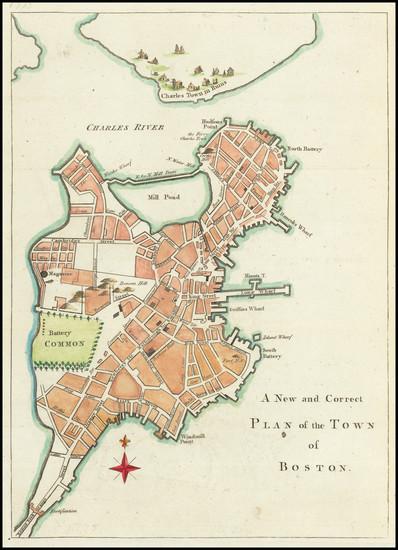 78-New England and Massachusetts Map By Gentleman's Magazine