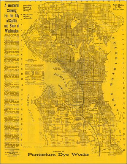 2-Washington Map By Modern Advertising & Printing Co.