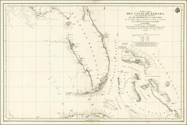 16-Florida and Bahamas Map By Direccion Hidrografica de Madrid
