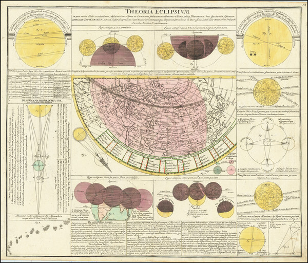 69-Celestial Maps Map By Johann Gabriele Doppelmayr