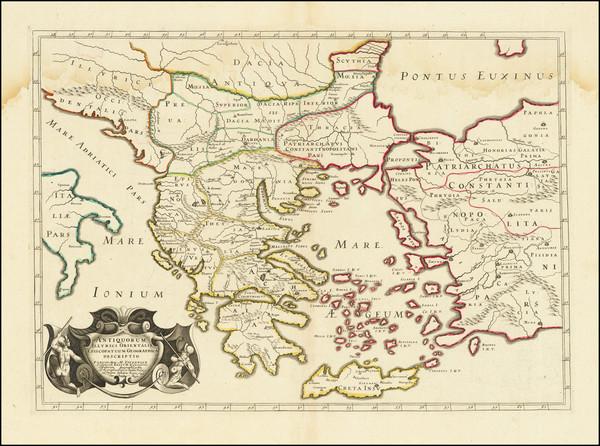 81-Bulgaria, Turkey, Turkey & Asia Minor and Greece Map By Melchior Tavernier