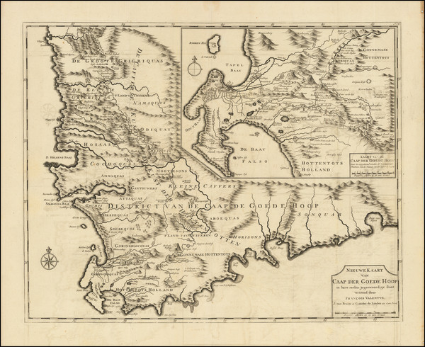 43-South Africa Map By Francois Valentijn