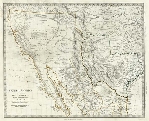 79-Texas, Southwest, Rocky Mountains and California Map By SDUK