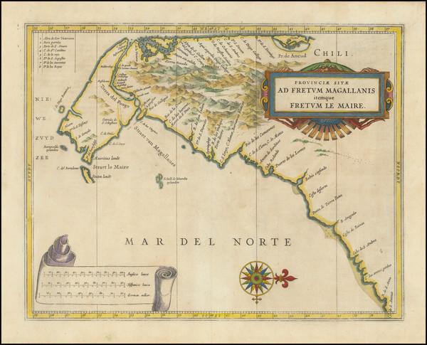 41-South America Map By Joannes De Laet