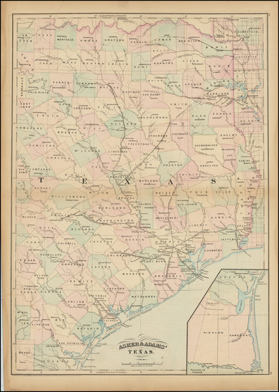 79-Texas Map By Asher  &  Adams