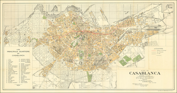 97-North Africa Map By Gaillac-Monrocq et Cie.