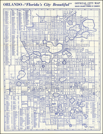 83-Florida Map By Orlando Chamber of Commerce