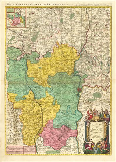 94-Sud et Alpes Française Map By Pierre Mortier