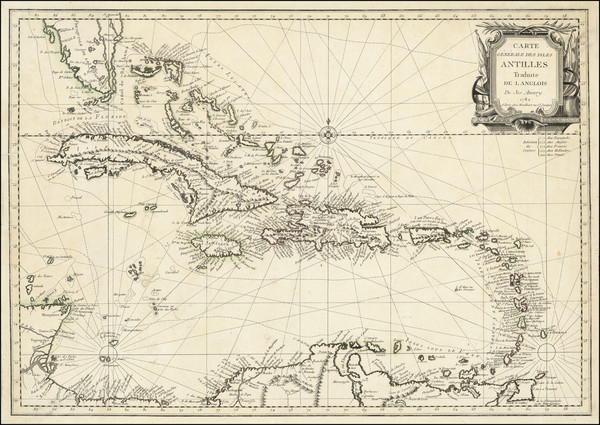 0-Florida and Caribbean Map By Louis Joseph Mondhare