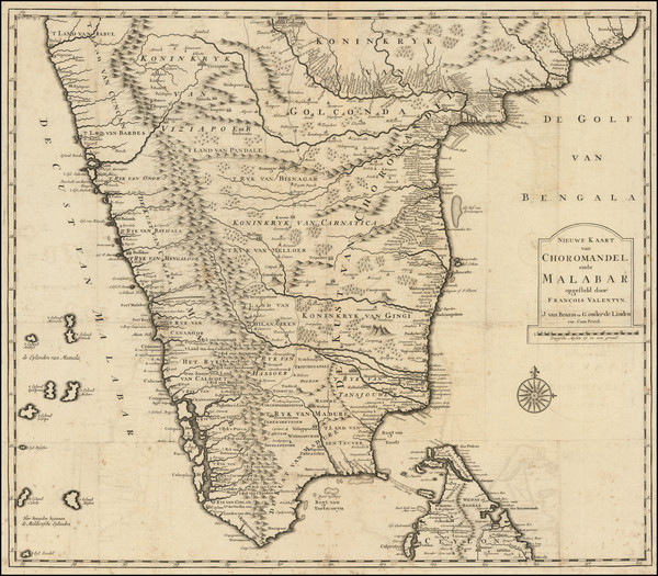 74-India and Sri Lanka Map By Francois Valentijn