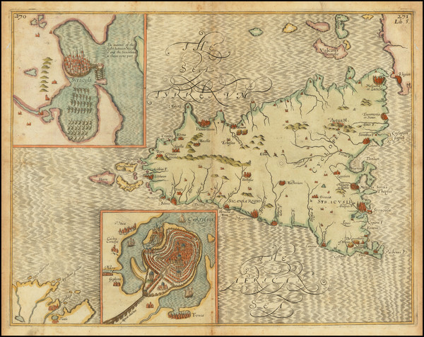 75-Sicily and North Africa Map By William Hole / Sir Walter Raleigh