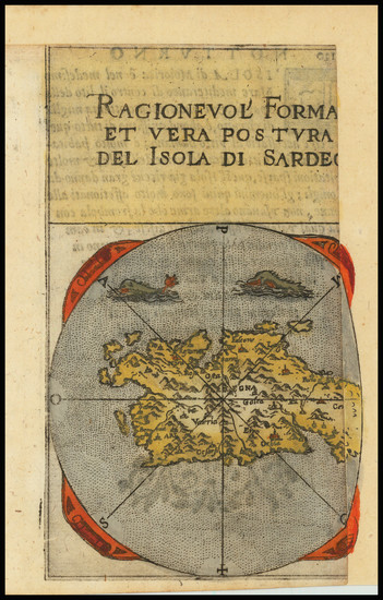 18-Sardinia Map By Francesco Ferretti