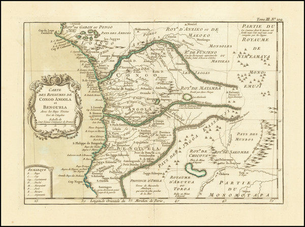 92-West Africa Map By Jacques Nicolas Bellin
