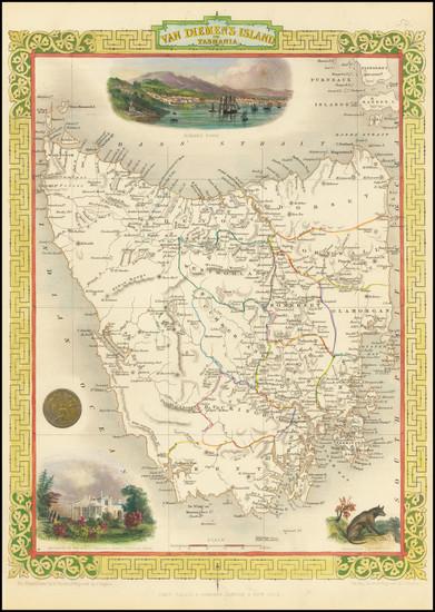 46-Australia Map By John Tallis