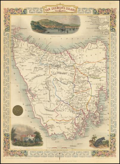 35-Australia Map By John Tallis