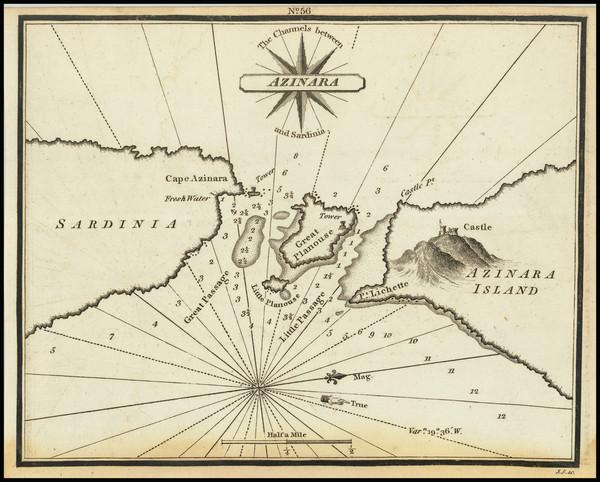 32-Sardinia Map By William Heather